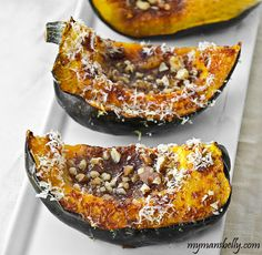 roasted acorn squash, easy thanksgiving recipes