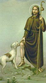 Saint Roch is the patron saint of dogs