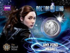 Amy Pond Dr Who official medal from The Royal Mint