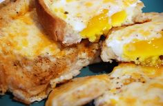 Egg-cellent Dishes: Eggs In A Hole by kimberley blue, via Flickr