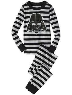 Star Wars™ Vader Stripe Long John Pajamas from Hanna Andersson