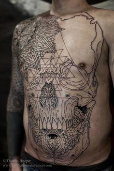 Skull  #lines #geometry #minimalism #tattoo