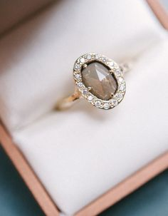 Unique gemstone engagement ring. Photography: bellamintphotography.com