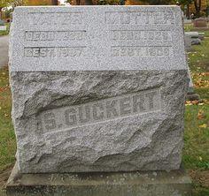 Graveyard Rabbit of Sandusky Bay: Tombstone Tuesday: Mr. and Mrs. Simon Guckert #genealogy #familyhistory
