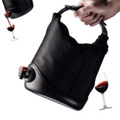 Awesome!! A purse with wine in it!! Who's the genius that came up with this????