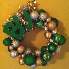 Ornament wreath: Baylor Bears!