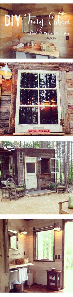 #DIY tiny cabin via  http://www.lynneknowlton.com/tiny-cabin/