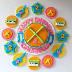 Party Package  Fondant Fresh Beat Band Inspired by TopCakeDecors, $64.95
