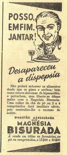 anúncio de Magnésia Bisurada
