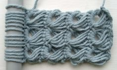 broomstick lace stitch... this would make an awesome scarf.