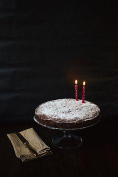 Pear, Chocolate and Pistachio Cake Recipe~