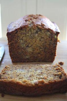 Honey Banana Poppy Seed Bread with Vanilla Cream Cheese Spread