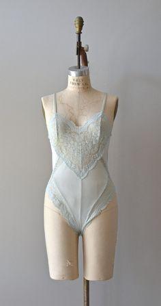mint lingerie, vintage lingerie, light blue, vintage lace, blue lace, mint teddi, vintag light, vintag lace, lace romper lingerie