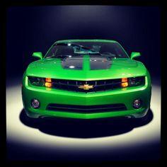 Green Chevrolet Camaro