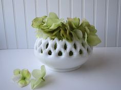 Vintage Westmoreland Milk Glass Bowl. $24.50, via Etsy.