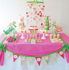 Happy and Preppy little girls birthday party
