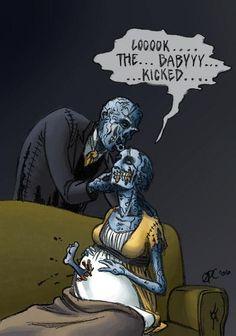 Zombie humor.