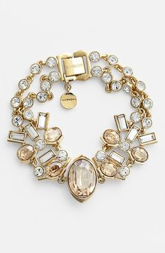 Givenchy Crystals and Rose Gold Bracelet .