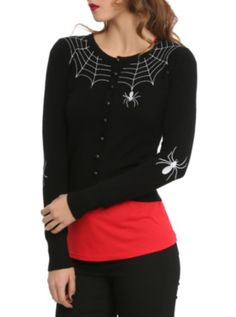 LOVE THIS!!!   Hell Bunny Spider Cardigan