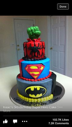 Superhero Birthday Cake!