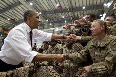 POTUS greeting troops at Bagram Airbase in Afghanistan