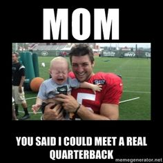 Baby Hates Tim Tebow - MOM You said I could meet a real Quarterback