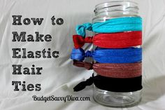 idea, how to make elastic hair ties, stuff, beauti, how to tie ties, bow, elast hair, diy crafts for little girls, thing