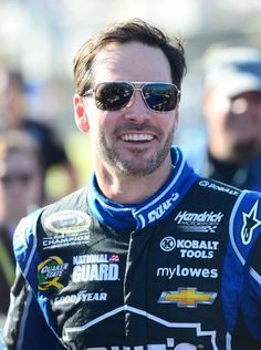 NASCAR Sprint Cup Series driver Jimmie Johnson during driver introductions.  11/17/2013