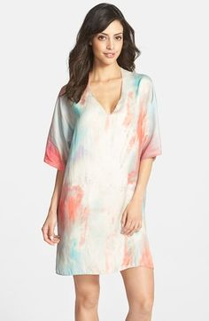 Donna Karan Tissue Crepe High/Low Caftan