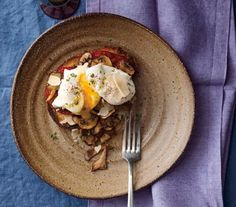 Poached Eggs With Mushrooms and Tomatoes recipe