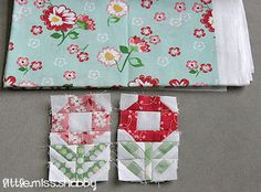 Feel cheery and bright with this Pocket Full of Posies Quilt Block. You'll love this flower garden quilt block because it will bring color and life into your home. Read more at http://www.favequilts.com/Block-Patterns/Pocket-Full-of-Posies-Quilt-Block#qGYIQPs0LsheBPdP.99