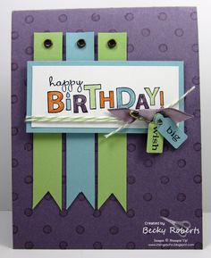 layout and great colors; handmade card