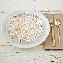 Wood Slice Salad Plates