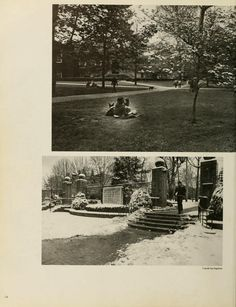 Spectrum Green Yearbook, 1976. Images of College Green. :: Ohio University Archives