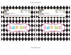 PARTEA EAT ME candy bar label  You Print by PrettyPartyCreations, $8.00