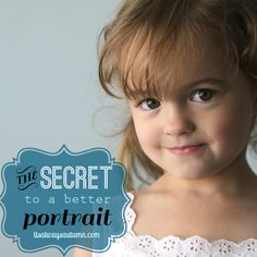 the secret to a better portrait {how to take school photos at home!}