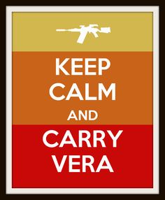 Keep Calm Nursery Art - Jayne Cobb Inspired Firefly Sci-Fi Geek Carry Vera. $12.00, via Etsy.