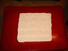 easy knit dishcloth pattern