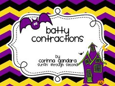 {Freebie} Teach your kids about contractions with this cute bat download!