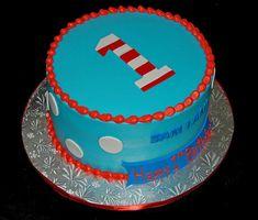 Dr. Seuss baby smash cake - 1st birthday