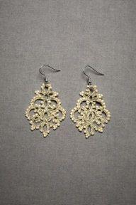 Wedding Earrings Queen Anne's lace