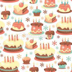 retro birthday, birthday parti, pattern, background, vintag birthday, birthday cakes