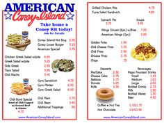 The American Coney Island Hot Dog has been a favorite with Detroiters and visitors for nearly a century. The reasons for the great popularity of the Amercan Coney Islandis its high quality, specially-seasoned, natural skin casing hot dog from Dearborn Sausage and the Keros family's own secret recipe Coney Island Chili Sauce developed decades ago. Add to that a topping of fine mustard and sweet chopped onions.
