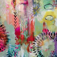 flora bowley colorful print