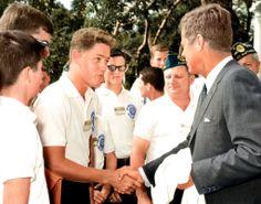 """""""Clinton meets JFK -1963 [1024 x 804] colorized by me"""""""