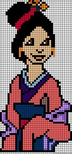 Disney Mulan perler bead pattern