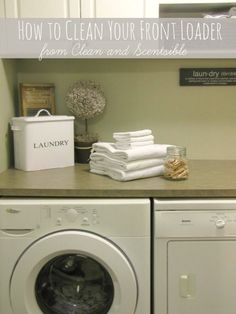 Awesome tutorial on how to clean your washing machine.  A must read!