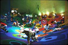 Japanese crochet playgrounds designed byToshiko Horiuchi MacAdam.