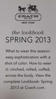 Shop the complete Spring 2013 Collection at www.coach.com.