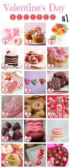 Valentine's Day Recipes - Desserts and Treats #Recipes #Valentines